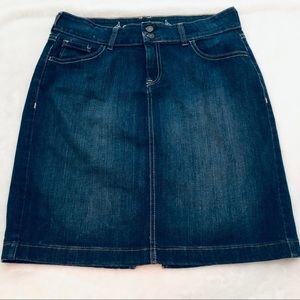 Old Navy Denim Perfect Pencil Jean Skirt Size 8
